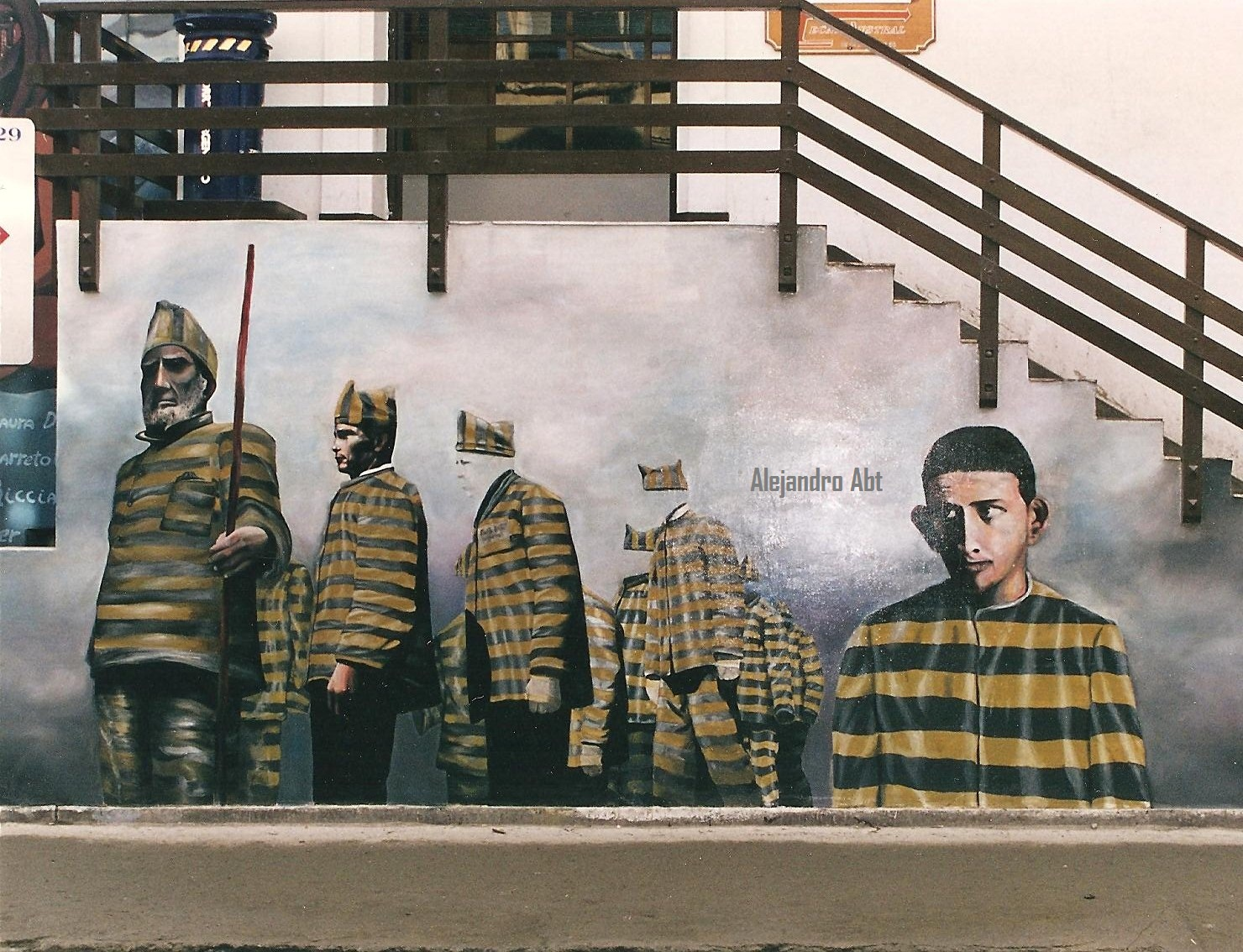 mural de presos