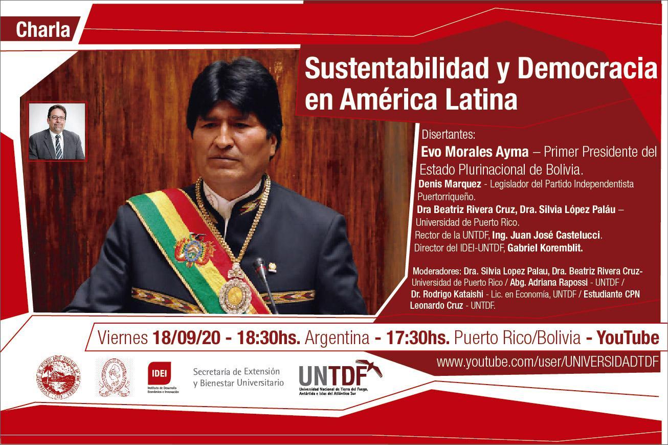 Evo Morales en la UNTDF - Sustentabilidad y Democracia en América Latina-01